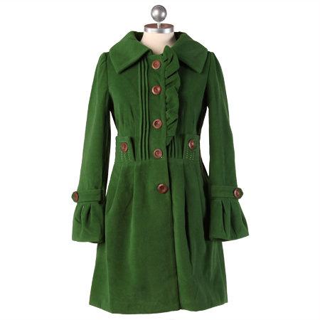 Apple of My Eye Green Trench Coat