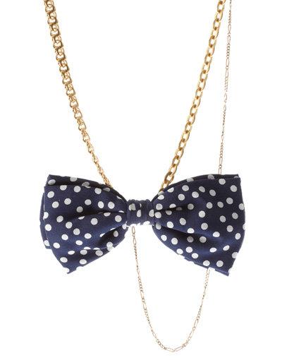 Silk Polka Dot Multi Necklace