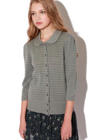 Kimchi Blue Pointelle Peter Pan Collar Sweater