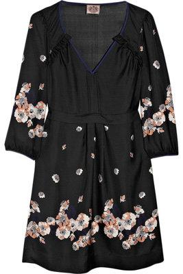 Juicy Couture Printed Silk-Satin Dress