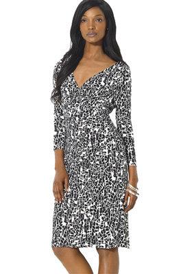 Ralph Lauren Elsie Print Matte Jersey Sheath Dress