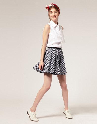 ASOS Check Full Skirt