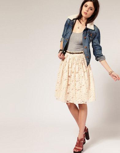 River Island Lace Full Skirt