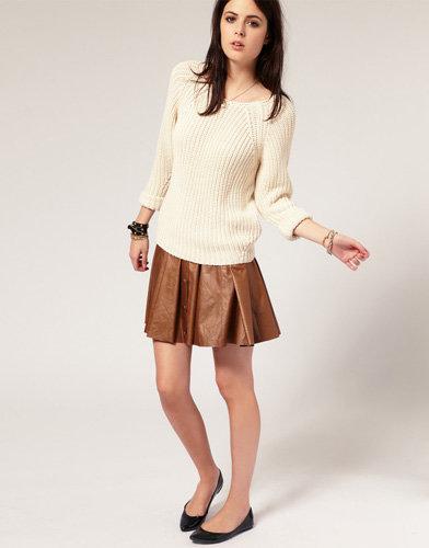 River Island PU Full Circle Skirt