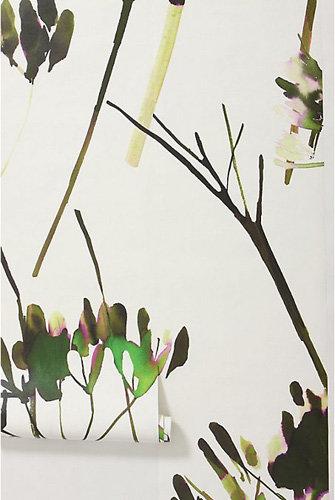 Brushstrokes Branches Mural