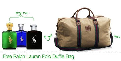 Free Ralph Lauren Polo Duffle Bag