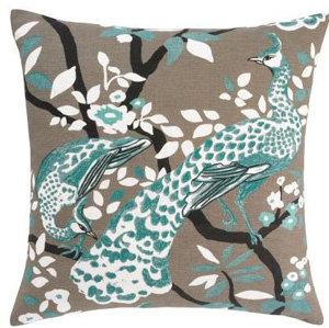 Peacock Azure Pillow