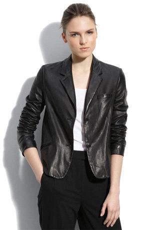 "Alexander Wang ""Essential"" Leather Blazer"