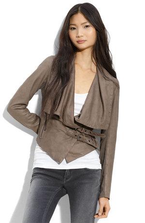 Muubaa Draped Leather Jacket