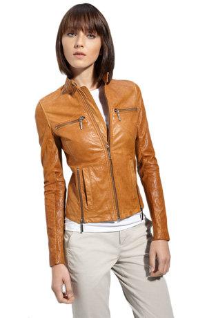 Vince Lambskin Leather Motocross Jacket
