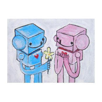 Robot Love Print