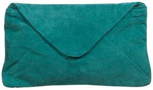 Topshop Suede Envelope Clutch Bag