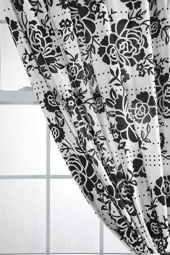 Stamped Rose Batik Curtain