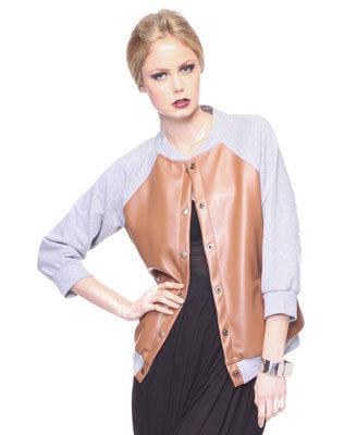 Forever21 Letterman Contrast Jacket