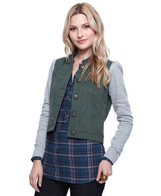 Forever21 Knit Sleeve Jacket