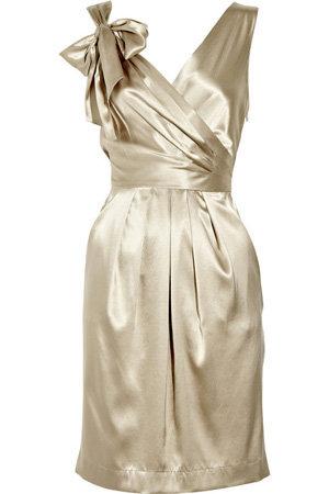 DKNY Stretch Silk Wrap-Effect Dress