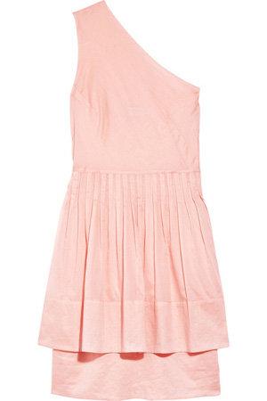 Richard Nicoll Shirt One Shoulder Cotton Dress