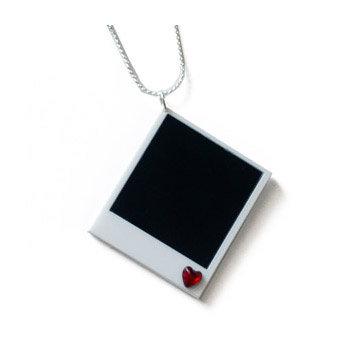 I Heart Polaroid Necklace