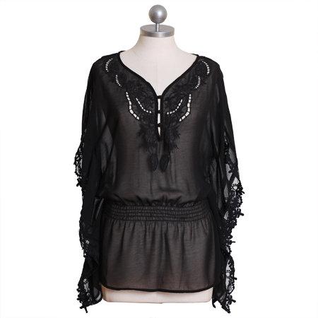 Heavenly Dream Dolman Top in Black