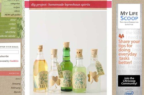 Homemade Leprechaun Spirits