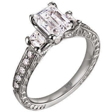 Scott Kay Emerald Cut Engagement Ring