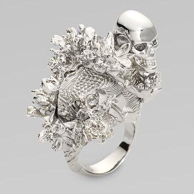 Alexander McQueen Koi Tail & Cherry Blossom Ring