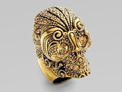 Alexander McQueen Lace Skull Ring