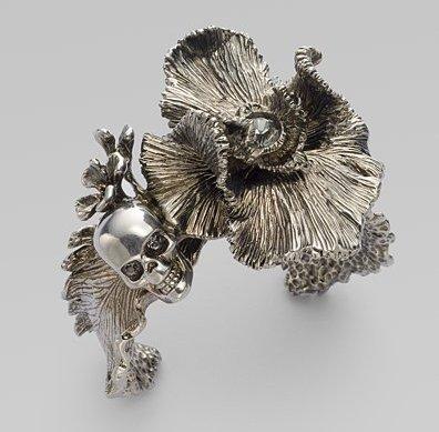 Alexander McQueen Iris Skull Cuff