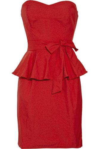 DKNY Twill Strapless Dress