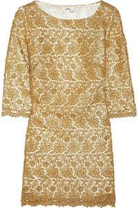 Milly Metallic Lace Shift Dress