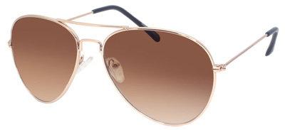 Asos Gold Aviator Sunglasses