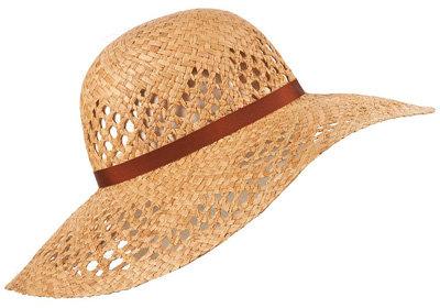 Tan Band Wheat Floppy Hat