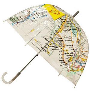 Modcloth Raindrops on Railways Umbrella