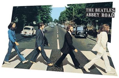 3D Beatles Abbey Road Lenticular Poster
