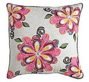 Diamond Flower Appliqué Pillow
