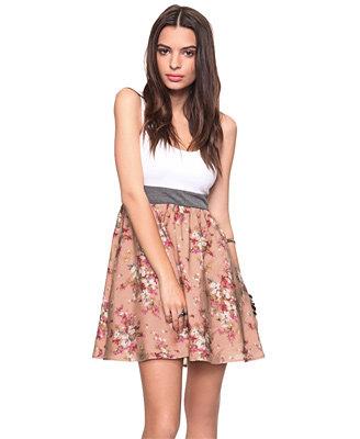 Daffodil Floral Halter Dress
