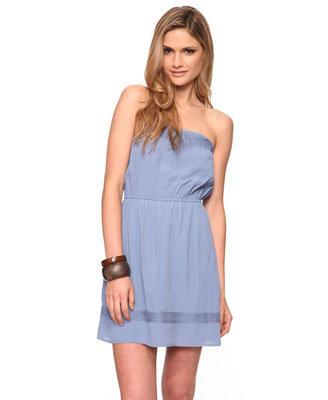 Strapless Woven Dress