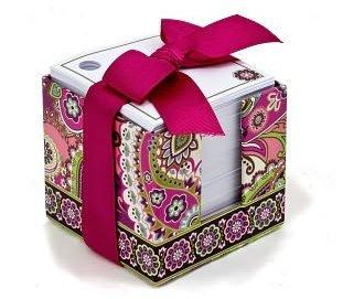 Vera Bradley Very Berry Paisley Note Cube