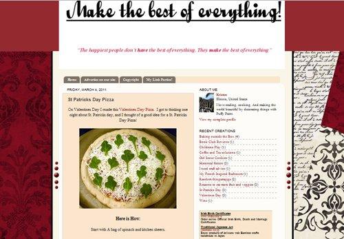 St. Patrick's Day Pizza