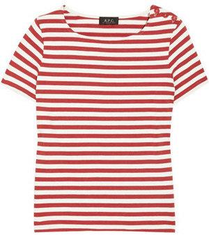 A.P.C Striped Cotton-Jersey T-shirt