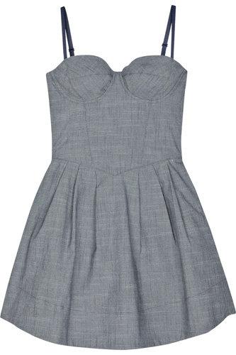 Lover Linen Corset Denim Dress