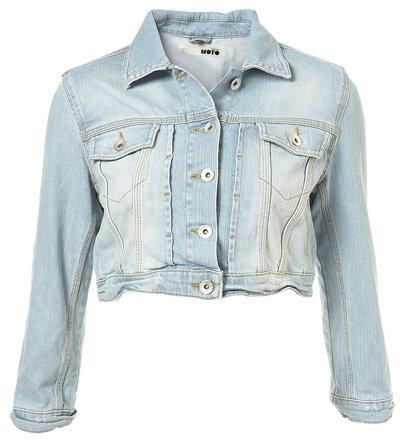 Topshop Super Bleach Crop Jacket