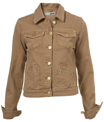 Moto Caramel Denim Western Jacket