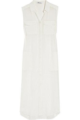T by Alexander Wang Silk-Chiffon Shirt Dress