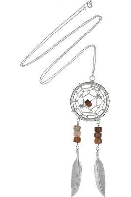Aurelie Bidermann Sterling Silver Dreamcatcher Necklace