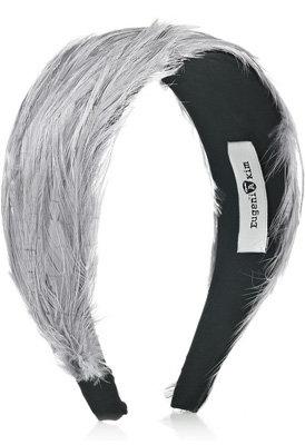 Eugenia Kim Jean Feather and Satin Headband