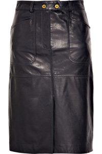Tory Burch Julian Leather Skirt
