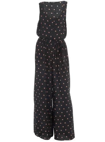 Dorothy Perkins Black Dot Flower Jumpsuit