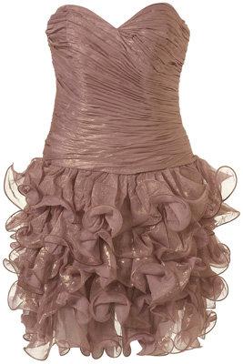 Rare Opulence Metallic Ruched Dress
