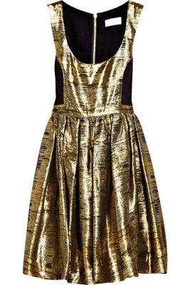 Adam Metallic Jacquard Dress